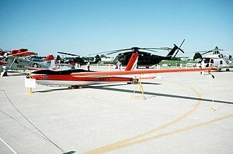 Schweizer X-26 Frigate - An X-26A sailplane on display at an air show