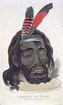 Head Of Yagan - 1833