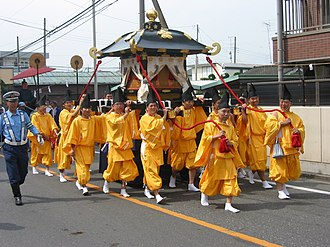 Glossary of Shinto - Image: Yaho Temmangu Festival 2002 d