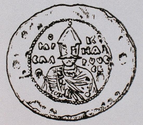 Печать князя Ярослава Владимировича, найденная в Новгороде в 1994 году