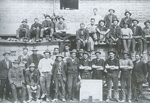 Yarralumla, Australian Capital Territory - Workers at Yarralumla brickworks in 1924