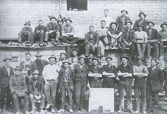 Yarralumla, Australian Capital Territory - Workers at Yarralumla brickworks in 1924