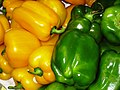 Yellow and green Bell peppers.JPG