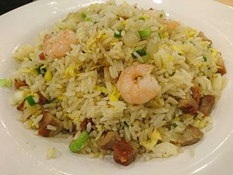 Fried rice - Yángzhōu chǎofàn in Hong Kong, the most popular Chinese fried rice