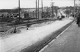 Weston Road - Looking north on Weston Road from Rogers Road, 1925