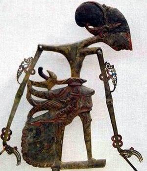 Damarwulan - Depiction of the hero Damarwulan  in a wayang klitik puppet.