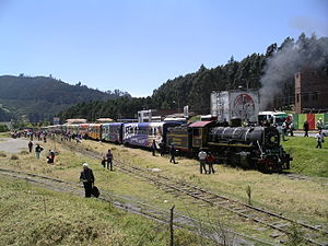 Tren Turistico de la Sabana - Image: Zipaquira station yard