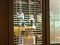 """""""Framing and reflections"""". Two workers cleaning windows and jalousies, Paris.jpg"""