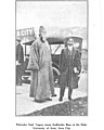 """""""Rabindra Nath Tagore meets Sudhindra Bose at the State University of Iowa, Iowa City"""" photo, from- Sudhindra Bose - Fifteen Years in America (page 320 crop).jpg"""