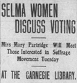 """Selma Women Discuss Voting"" from the Selma Times-Journal on March 27, 1910.png"
