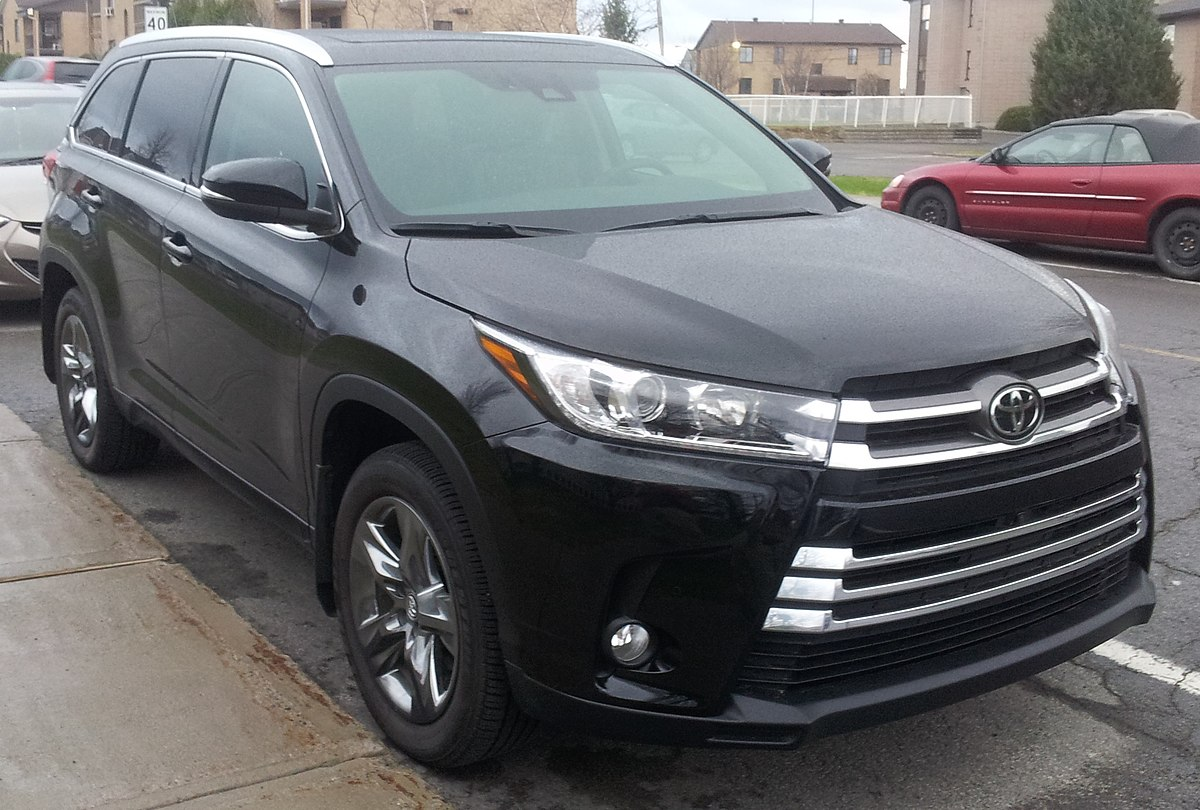 Toyota Highlander  Blue Paint Code Location