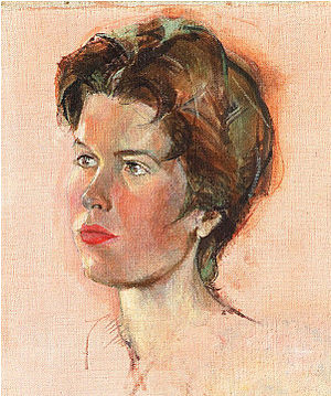 Hubertine Heijermans - 'Self-portrait' by Hubertine Heijermans, 1959