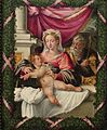 'The Holy Family' attributed to Michelangelo Anselmi, Dayton Art Institute.JPG