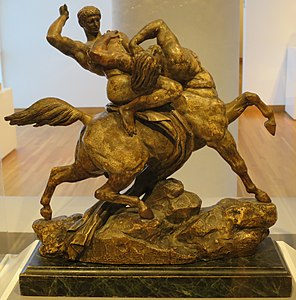 'Theseus Battling the Centaur' by Antoine-Louis Barye, High Museum.JPG