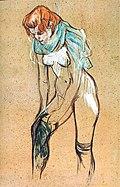 (Albi) Femme qui tire son bas 1894 - Toulouse-Lautrec - Musée Toulouse-Lautrec MTL.177.jpg
