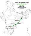 (Howrah - Puttaparti SSPN) Express Route map.jpg