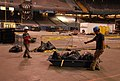 (Hurricane Katrina) New Orleans, LA, 4-13-06 -- Rob Jaime Soloosano and Roberto Barrientos prepair a load of material to be lifted the 275' to the roof of the Superdome. FEMA is wor - DPLA - 11497e0394fa7c465fe60caa4ad29375.jpg