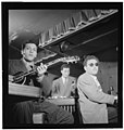 (Portrait of Bill (Buddy) De Arango, Terry Gibbs, and Harry Biss, Three Deuces, New York, N.Y., ca. June 1947) (LOC) (4931769035).jpg