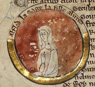 Æthelflæd - Æthelflæd in the thirteenth-century Genealogical Chronicle of the English Kings, British Library Royal MS 14 B V