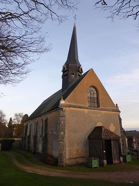 Église Saint-Éloi-Saint-Jean-Baptiste de Crécy-Couvé, en Eure-et-Loir.