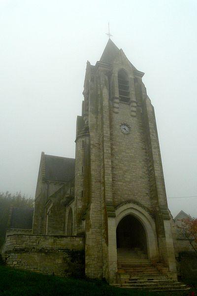 Sainte-Benoite Church in Craonnelle, Aisne department, France
