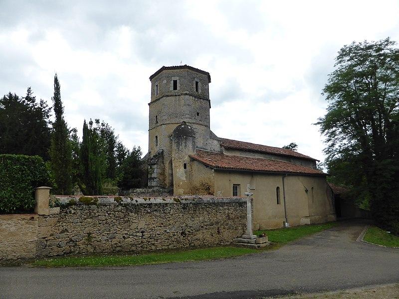 Église de Mauléon d'Armagnac, dans le Gers.