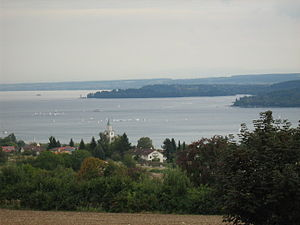 Überlingen - Überlingen with Lake Constance in the background