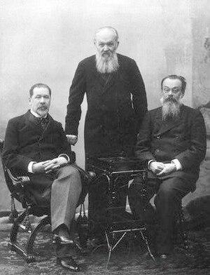 Viktor Burenin - Viktor Burenin, Alexey Suvorin and  N.Gey, 1901