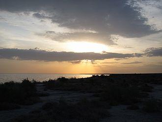 Sarygamysh Lake - Sunset at Sarygamysh Lake