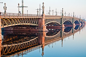 Trinity Bridge, Saint Petersburg - The Trinity Bridge is a landmark of Art Nouveau design