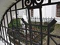 Фрагмент ограды с могилой младшего брата А.С.Пушкина - Николеньки Пушкина. Большие Вязёмы.jpg