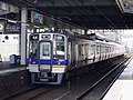 南海8000系 貝塚駅にて Nankai 8000 series EMU 2013.8.29 - panoramio.jpg