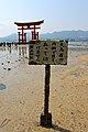 大鳥居の内側で 貝を取ってはいけません 嚴島神社 (8747027989).jpg
