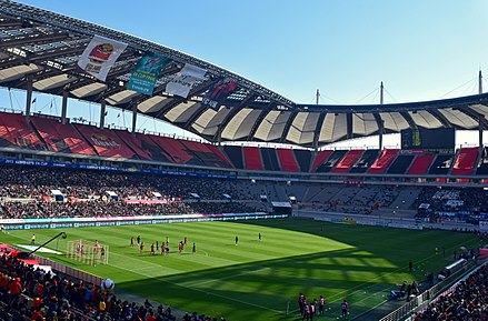 Seoul World Cup Stadium in Seoul with a capacity of 66,704 seats seoulweoldeukeobgyeonggijang.jpg