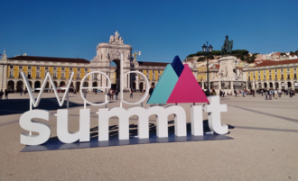 Lisbon is the home of Web Summit, the largest tech event in the world. 06-11-2017 WebSummit Praca do Comercio Lisboa (cropped).png