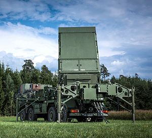 Medium Extended Air Defense System - The MEADS Multifunction Fire Control Radar, shown in its German configuration, can detect and track advanced threats with 360-degree coverage and no blind spots.