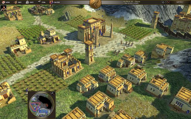 Un aperçu de la version Alpha 15 du jeu avec les Egyptiens ptolémaïques.