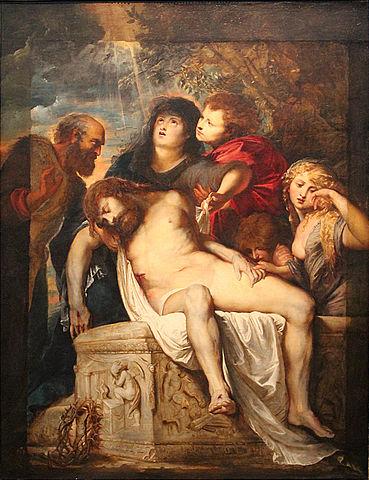 Положение во гроб. 1602, масло, холст. 180 × 137 см. Рим, Галерея Боргезе