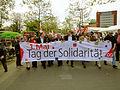1. Mai 2012 auf dem Klagesmarkt in Hannover 016 Einzug mit Transparent Tag der Solidarität.jpg