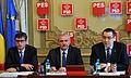 1. Victor Ponta, Liviu Dragnea si Andrei Dolineaschi la sedinta BPN a PSD - 31.03.2014 (13755558375).jpg