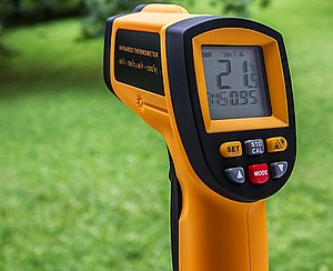 Thermometer - An infrared thermometer is a kind of pyrometer (bolometer).