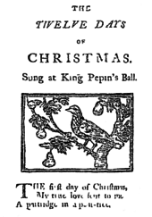 picture relating to Words to 12 Days of Christmas Printable titled The 12 Times of Xmas (tune) - Wikipedia