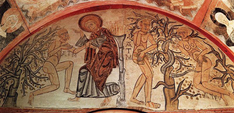 File:12th-century unknown painters - Creation Adam and the Original Sin - WGA19757.jpg