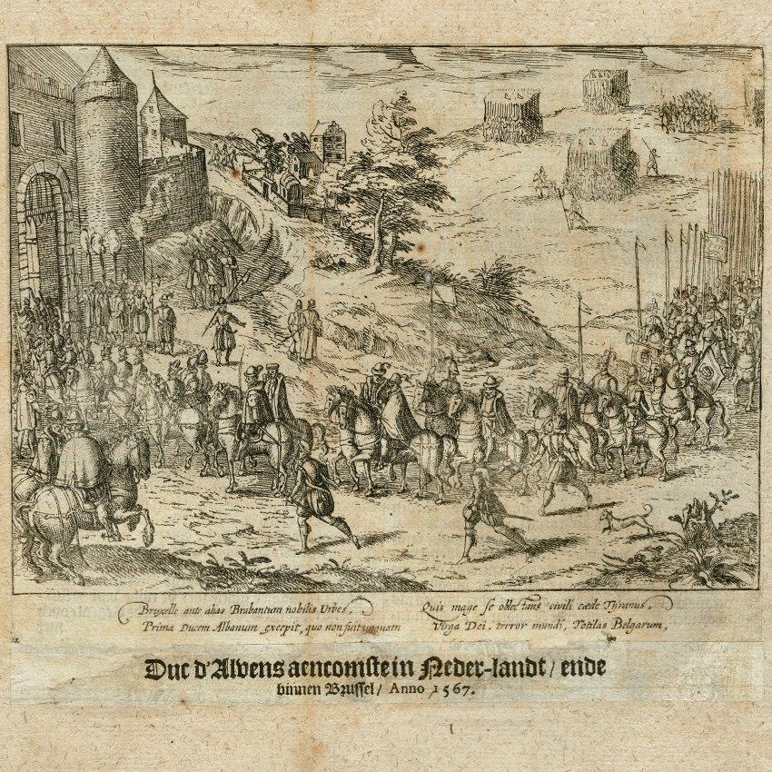 14-4003 Print Baudartius Arrival Duke of Alba Brussels 1567 1