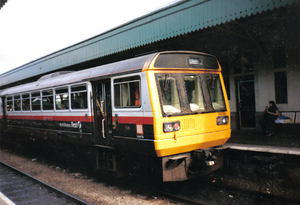 Valley Lines (train operating company) - Image: 142069 Cardiff Central GMPTE