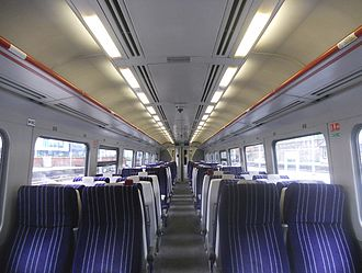 British Rail Class 158 - The interior of a Northern refurbished Class 158/9 (First Refurbishment)