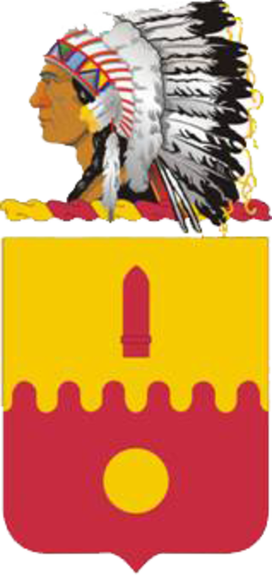 160th Field Artillery Regiment (United States) - Coat of arms