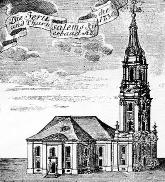1731 in architecture - Jerusalemskirche (Berlin) as it appeared in 1731