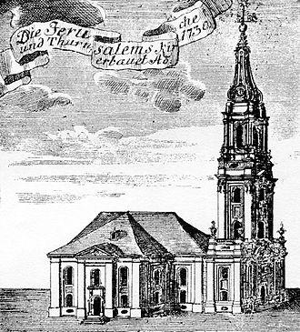 Jerusalem Church (Berlin) - Philipp Gerlach's new structure of Jerusalem Church.