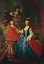 1755 portrait of Maria Antonia of Spain with her son the Prince Carlo Emanuele, overlooked by Athena by Giuseppe Duprà.jpg